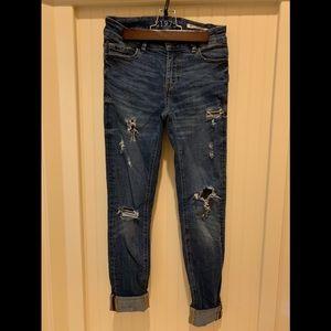 Blue midrise jeans